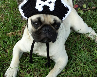 Pirate Hat for Cats and Small Dogs - Pirate Costume for Dogs and Cats, Pirate Cat Hat, Pirate Cat Costume