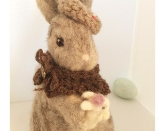 Sarah, Wool needle felted bunny