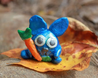 Polymer Clay Bunny, Polymer Clay Rabbit, Bunny, Rabbit, Carrot, Easter, Polymer Clay, Clay