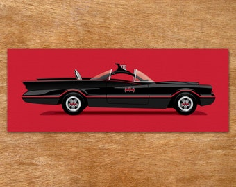 1966 Batmobile - Batman handmade screen print