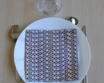 napkin - pattern triangle - 34 x 34 cm