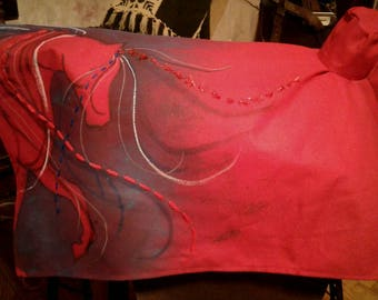 Western Saddle Cover - Red