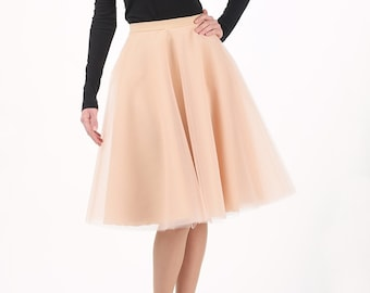 Circle tulle skirt, champagne skirt, petticoat, custom made to order, champagne