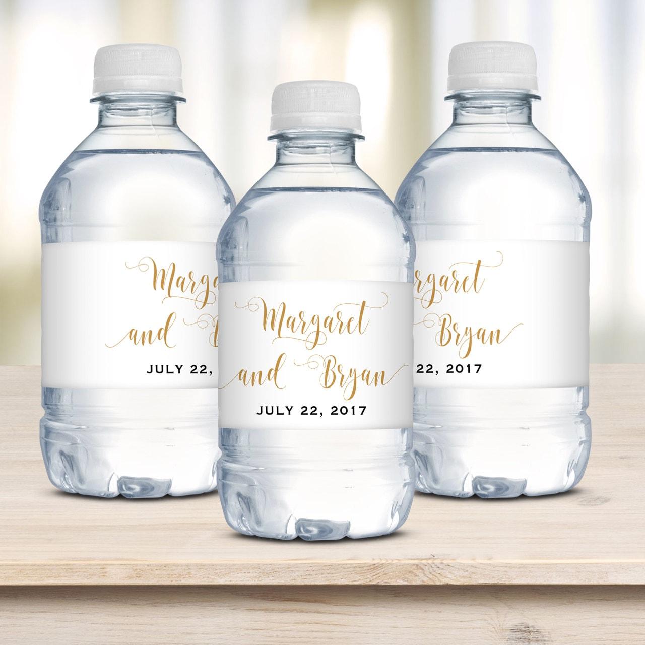 Wedding Water Bottle Labels Waterproof Label Personalized