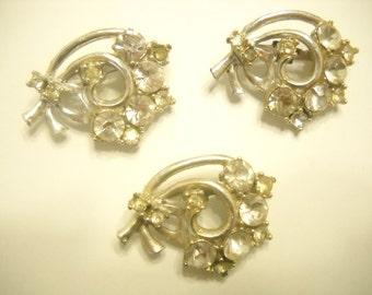 Three Foil Back RHINESTONE SCATTER PINS (3620)