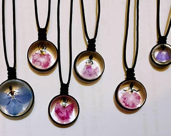 necklace - actual flowers - mothers day