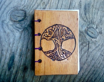 Purple Power Tree of Life Coptic Bound Pocket Journal