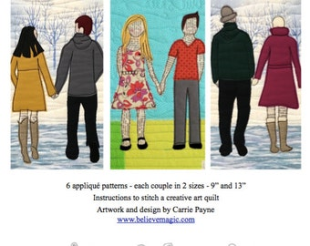 Appliqué Quilt Pattern - Side by Side - Digital Download
