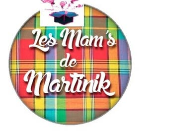 1 cabochon clear 25 mm martinique theme
