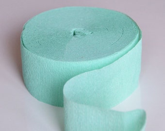 Mint Green Crepe Paper Streamer 81FT Wedding Color Party Ideas Baby Shower Decoration