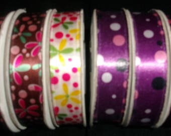 Polka Dot and Flower Full Spool Ribbon Bundle