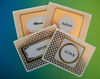Metallic Notecard Set - 4 Cards Per Set