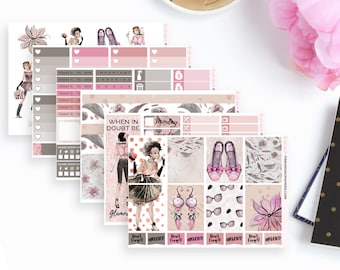 Glam, You're Fabulous Weekly Planner Sticker Kit |  Ideal for the Vertical Erin Condren | 118 Stickers