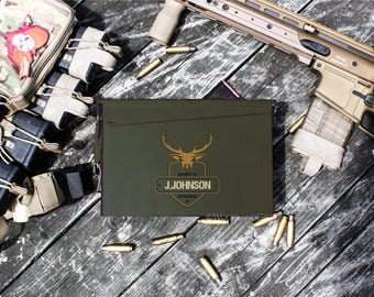 Father's Day Gift | Personalized Ammo Box | Personalized Ammo Can | Groomsmen Gift Idea | Deer Hunting Ammo Can | .30 Caliber Ammunition Box