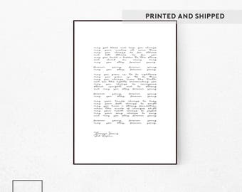 Bob Dylan, Forever Young, Forever Young Lyrics, Bob Dylan Print, Bob Dylan Lyrics, Forever Young Lyrics Wall Art, Bob Dylan Poster, Famous.