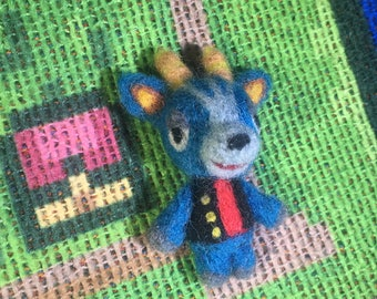 Needle Felted Animal Crossing-inspired Bruce