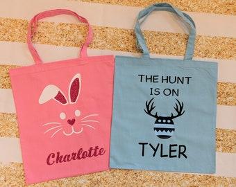 Custom Easter Egg Hunt Bag With Name   Girl Easter   Boy Easter   Easter Egg Hunt   Easter Gift   Easter Egg Basket   Personalized   Custom