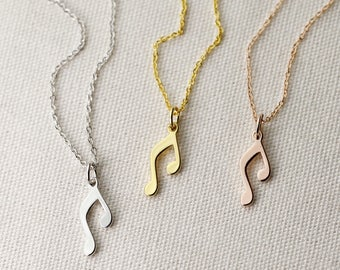 Music Note Necklace Music Gift For Mom Rose Gold Music Teacher Gift Art Teacher Gift Dance Teacher Gift - DEN *