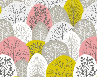 Cloud 9 First Light Spring Woodland Pink Tree - Organic Cotton Fabric - 100% Organic Cotton - 12 Yards In Stock