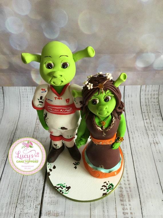 Wedding cake Topper Shrek or any movie character - a lovely keepsake fully handmade