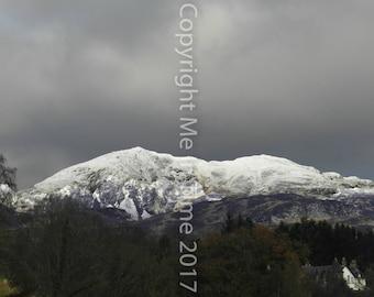 Scottish Mountains, art, fine art, photography, decor, Ben Vrackie, mountain, Cairngorms, snow, gift, Scotland, wilderness, Pitlochry