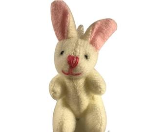Miniature Plush Bunny Rabbit Stuffed Animal for Dollhouse or Play Accessory