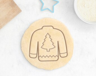 Ugly Christmas Sweater Cookie Cutter - Christmas Cookies Christmas Gift Christmas Cookie Cutter Christmas Tree Cookies Christmas Stocking