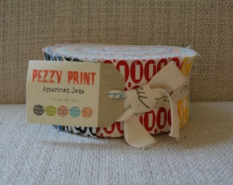 NWT Moda quilt fabric Jelly Roll American Jane Pezzy Print 21605 JR novelty fabric cotton fabric Sandy Klop quilting Pez Japanese cotton
