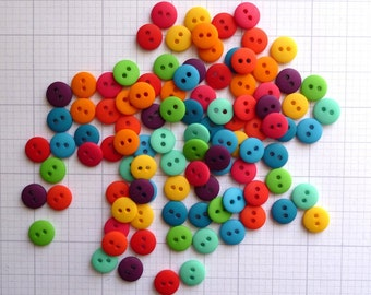 Teeny Tiny Buttons MIX BAG of 100 two hole