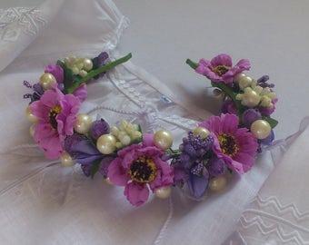 Ukrainian wreath Hair decoration Ukrainian accessory Wreath for girls and women floral headband accessory for ukrainian embroidery