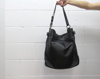 Agave Black Leather Bag