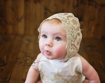 vintage baby lace bonnet, baby bonnet, baby girl, photo prop bonnet, baby hat, newborn lace hat, photo prop, baby photography props, baby