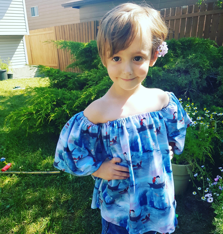 Girls Off Shoulder Top Dress sewing tutorial PDF newborn through 16 ...