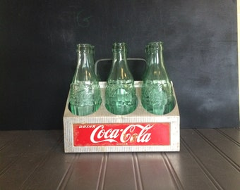 Vintage Coca Cola Carrier Aluminum Coke Caddy Vintage Coke Bottles