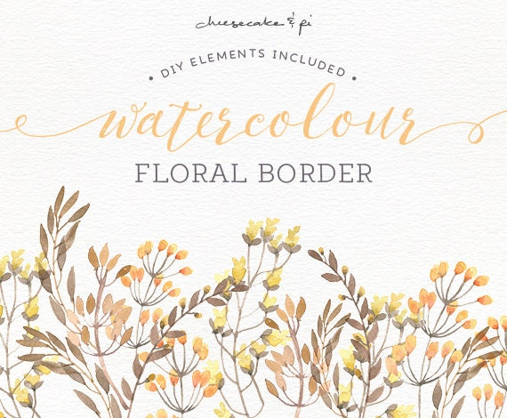 Watercolor Floral Border PNG Clipart Wedding