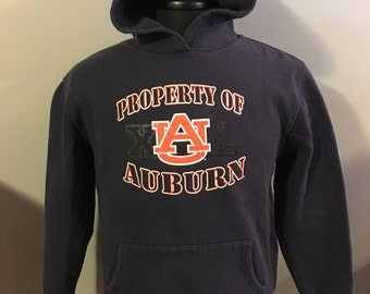 Vintage University of Auburn Tigers Hooded Sweatshirt, Size: Youth XL/ Men's Small