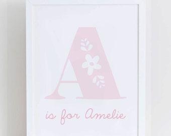 Personalised Baby Initial Print
