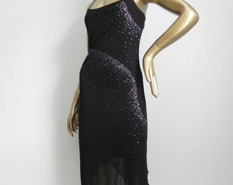 where the chips fall ~ beaded stretch dress