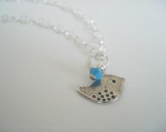 Bracelet de naissance en argent Sterling, Bracelet à breloques, oiseau bijoux, cadeau de demoiselle d'honneur,