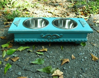 Raised Dog Bowl, Elevated Dog Feeder, Dog Bowls, Elevated Bowls, Pet Feeding Station, Cat Feeder Stand, Stainless Bowls Made to Order