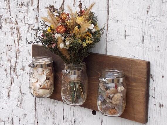 Mason Jar Herb Garden Mason Jar Planter Hanging Mason Jar Flower Vase Mason  Jar Wall Hanging