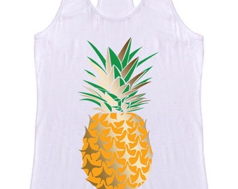 Pineapple Fruit Racerback Tank Top Graphic Shirt