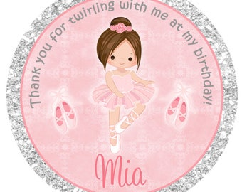 Ballet Birthday Stickers  Ballet Stickers  Any hair color