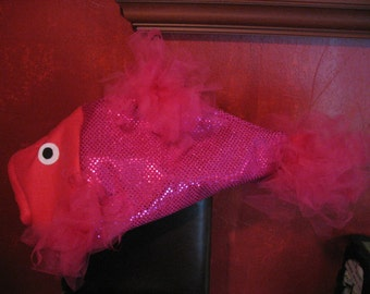 Hot Pink sequin Beta Fish costume-one size fits all