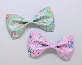 """Shimmery Floral Hair Bow-Alligator Clip-Baby Headband-Photo Prop-Faux Leather-Toddler Hair Accessories-4"""" hair bow"""