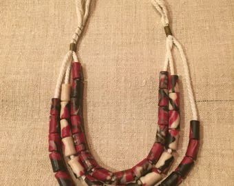 Necklace- rope and beads