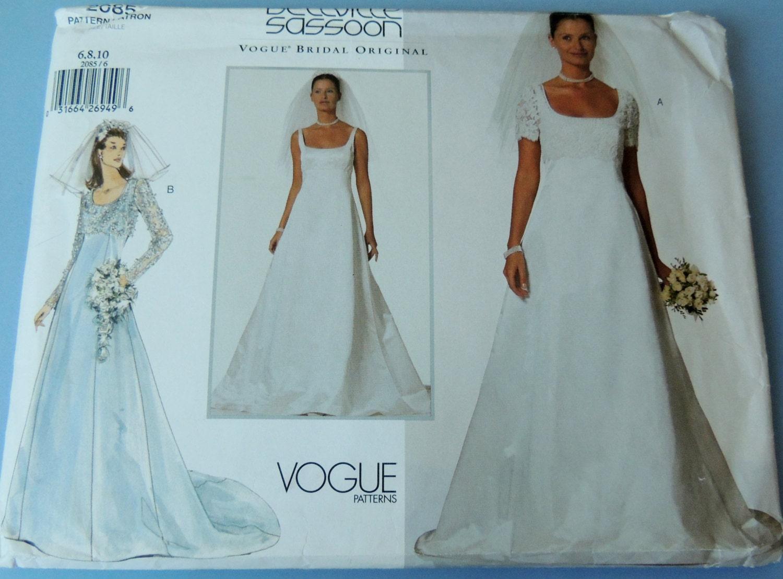 VOGUE Bellville Sassoon Bridal Original Uncut sizes 6810 and