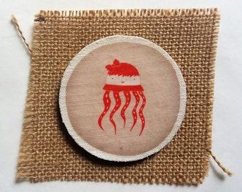 Wooden brooch - Wooden Pin - Vintage brooch -