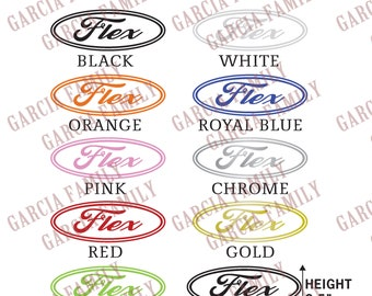Custom Flex/Ford Logo - Multiple Color Options Available