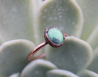 Poseidon Variscite   Poseidon Ring   Variscite Copper Ring   Rustic Copper Ring   Ready-To-Ship